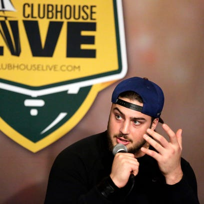 Green Bay Packers left tackle David Bakhtiari co-hosted