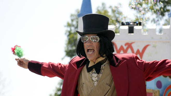 One of the many characters portrayed by Mark Cline is that of Willy Wonka at the Sweet Dreams Festival in Stuarts Draft.