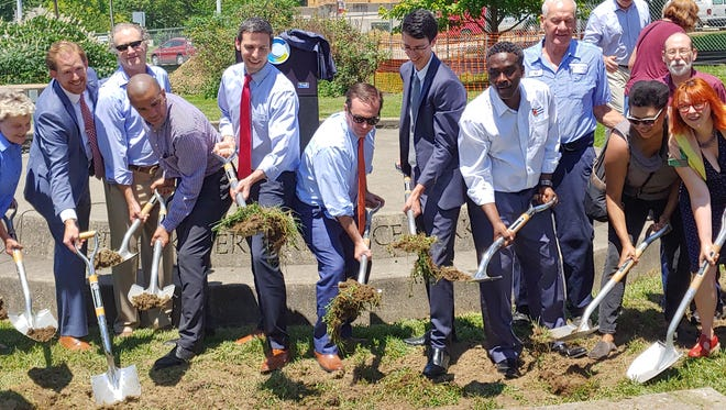 City of Cincinnati officials including Mayor John Cranley broke ground on a new development in Westwood Thursday at the current site of Westwood Town Hall. The new Madcap Entertainment Center at 3064 Harrison Ave. will house the Madcap Productions Puppet Theatre alongside various other developments.
