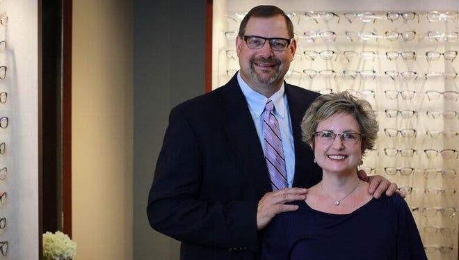 Dr. Shari Gustin and husband Michael Gustin, of Webster Eyecare Associates.