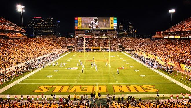 Technology company ANC will install the 47-foot x 113-foot video display in the north end of Sun Devil Stadium this summer.