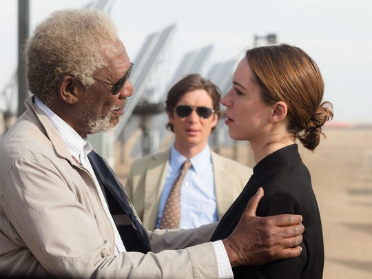"Morgan Freeman, Cillian Murphy and Rebecca Hall star in ""Transcendence."""