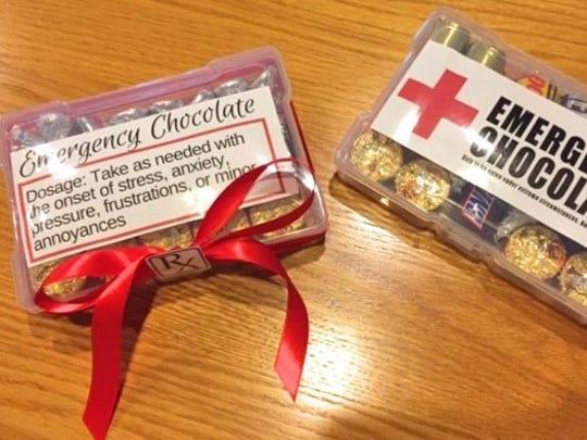 Emergency chocolate kits