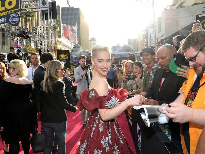 Emilia Clarke (who plays the character Qi'Ra) shone