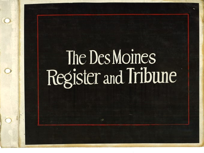 1929 Des Moines Register and Tribune Promotional Book