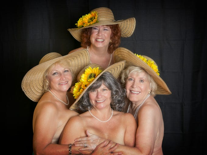 """The """"Calendar Girls"""" pose for Lab Theater's charity"""