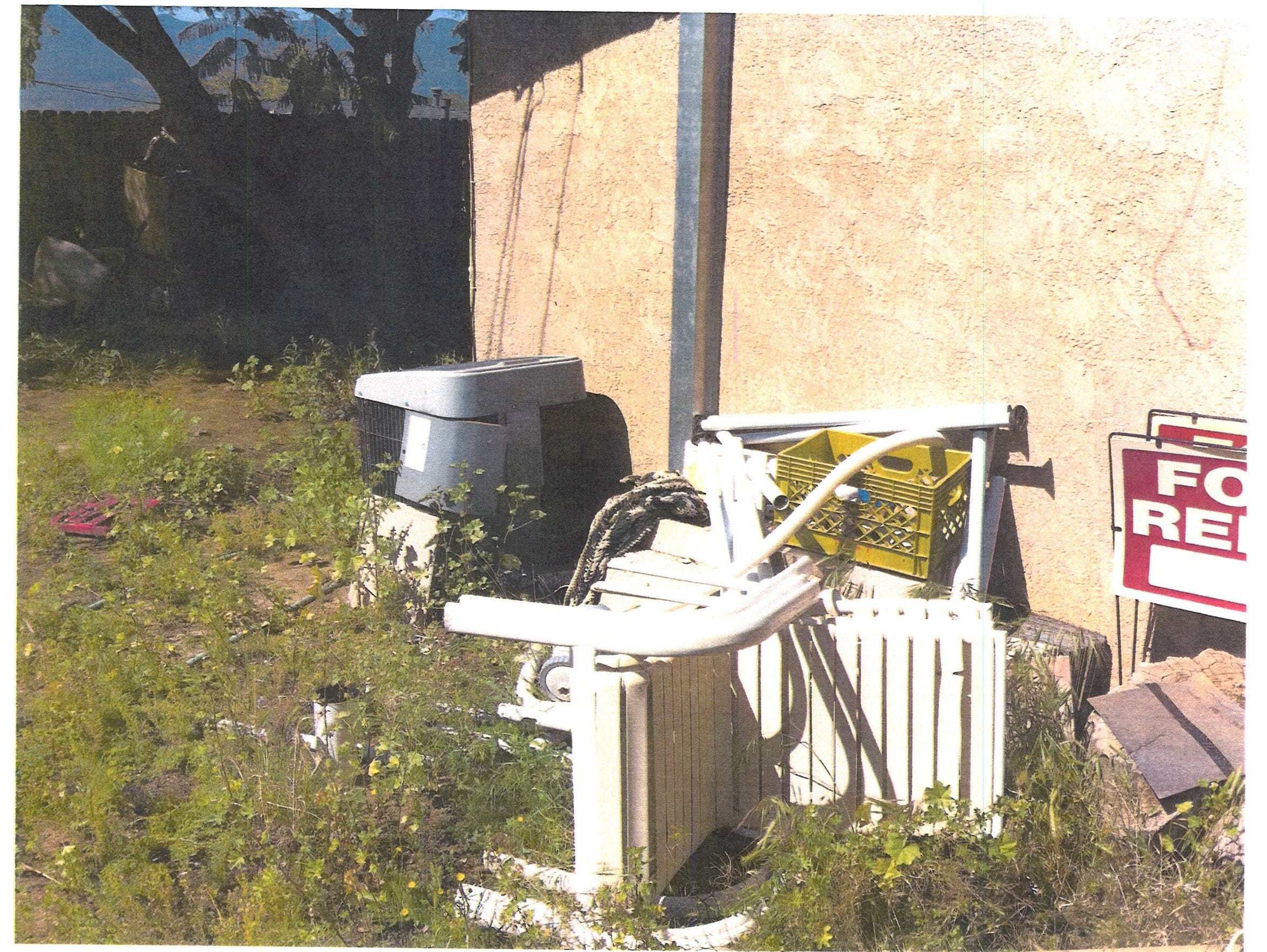It was in this spot, a side yard in Lake Elsinore,