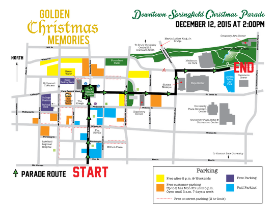 A map of the Christmas parade