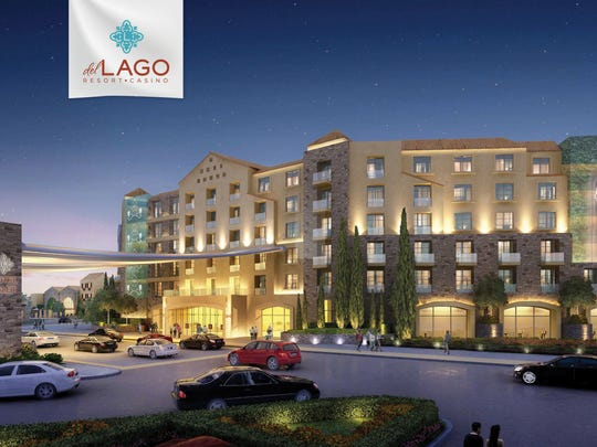A rendering of the del Lago Resort & Casino off Thruway