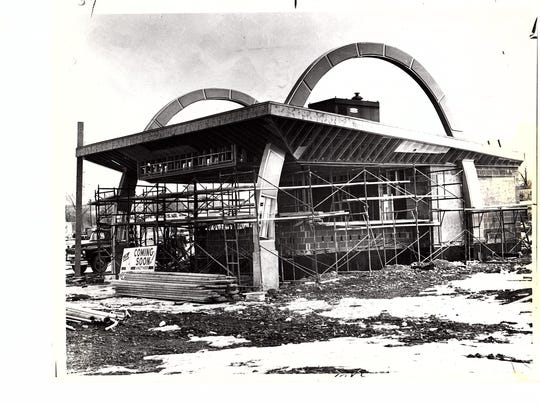 The McDonald's under construction across from the Binghamton Plaza in 1963.