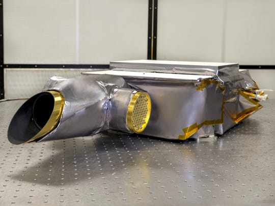 The instrument that will explore the surface of the primitive asteroid Bennu in search of water and organic materials.