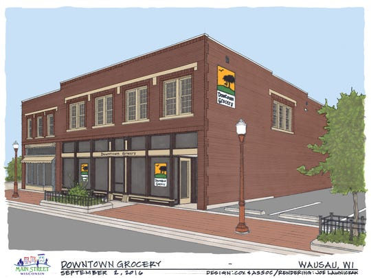 Renderings of the Downtown Grocery redesign.