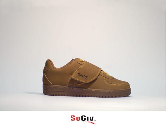 Preview of new design: Air Force 1 inspired casual shoe with velcro straps.