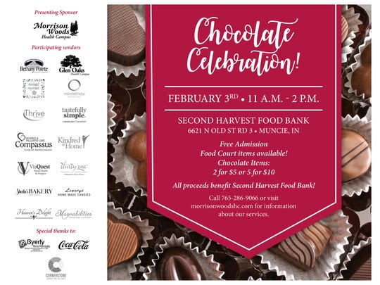 Muncie Chocolate Celebration will be Feb. 3 at Second Harvest Food Bank.