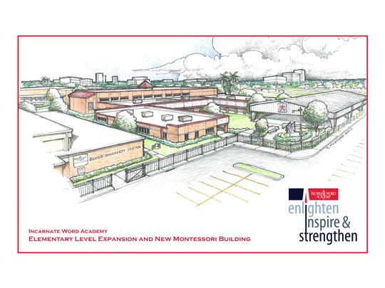 This rendering depicts the new elementary level Montessori building at Incarnate Word Academy.