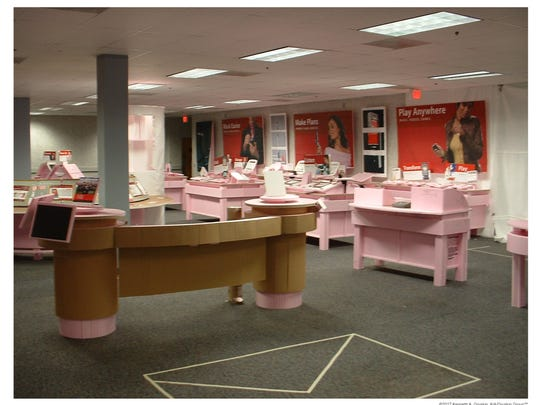 "The Gruskin Group often employs a ""pinking process"" that creates a life-size model of the spaces they design so clients can assess how the space will be experienced and how it will feel to their customers."