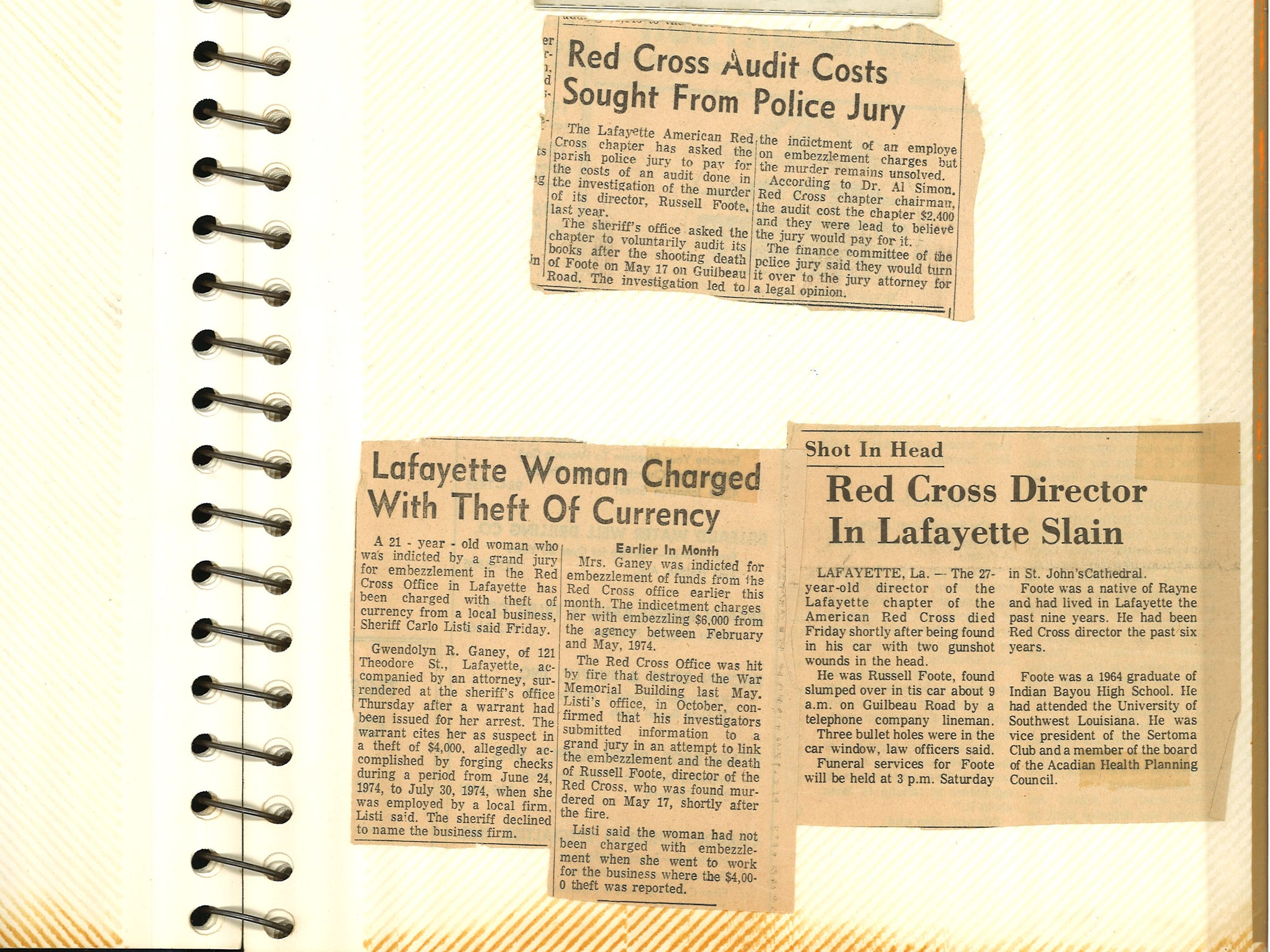 News clippings from 1974.