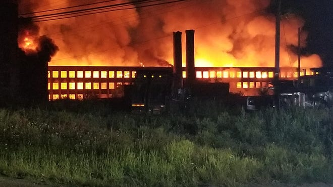A large fire broke out early Thursday morning at the former CharlesTown Mall complex.