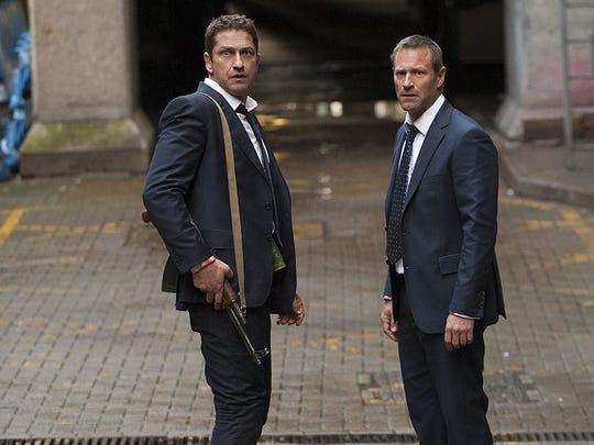Secret Service agent Mike Banning (Gerard Butler, left)