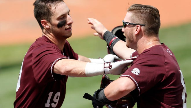 Mississippi State's Brent Rooker (left) and Gavin Collins helped their team to a No. 11 final ranking.