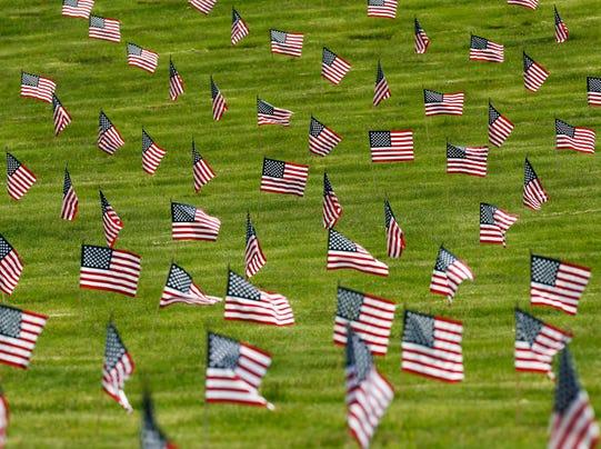 AP Memorial Day Flags Massachusetts