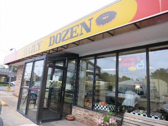 The Daily Dozen doughnut shop in Warren, which marked