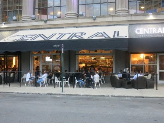 The sidewalk patio at Central Kitchen + Bar in downtown