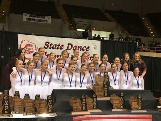 Members of the championship Franklin High School dance