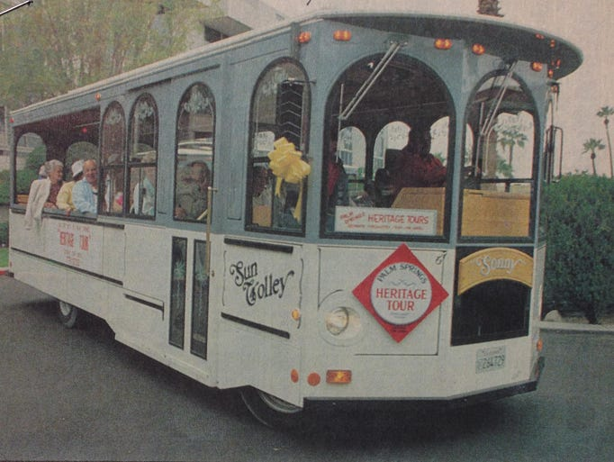 A Desert Sun story, dated Feb. 28, 1991, reports on the unveiling of the Village Shuttle, a trolley that traveled the downtown Palm Springs route.