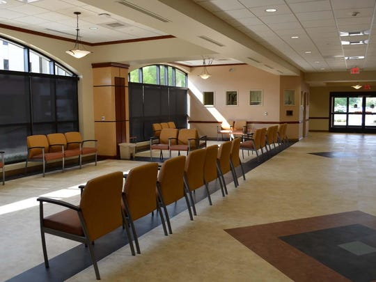 The reception and waiting areas at the new emergency department at Rapides Regional Medical Center.