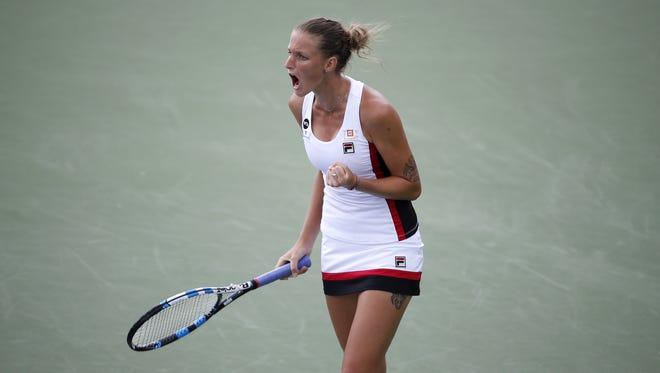 Karolina  Pliskova beat Garbine Muguruza, 6-1,6-3 during the semifinals of the Western and Southern Open Saturday.
