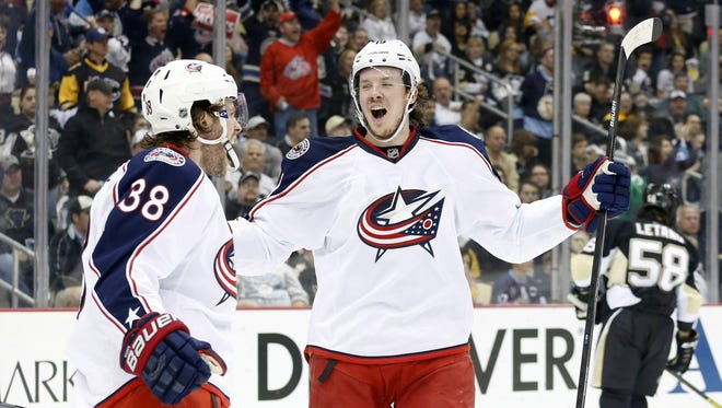 Ryan Johansen, right, and Boone Jenner are two of the young core stars for the Columbus Blue Jackets.