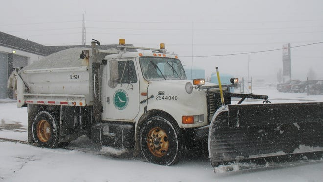 Snow plows for Ohio Department of Transportation are out clearing roads from snow and ice after storm forces several closures Monday.