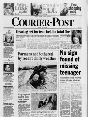 The Courier-Post front page from April 10, 2007.