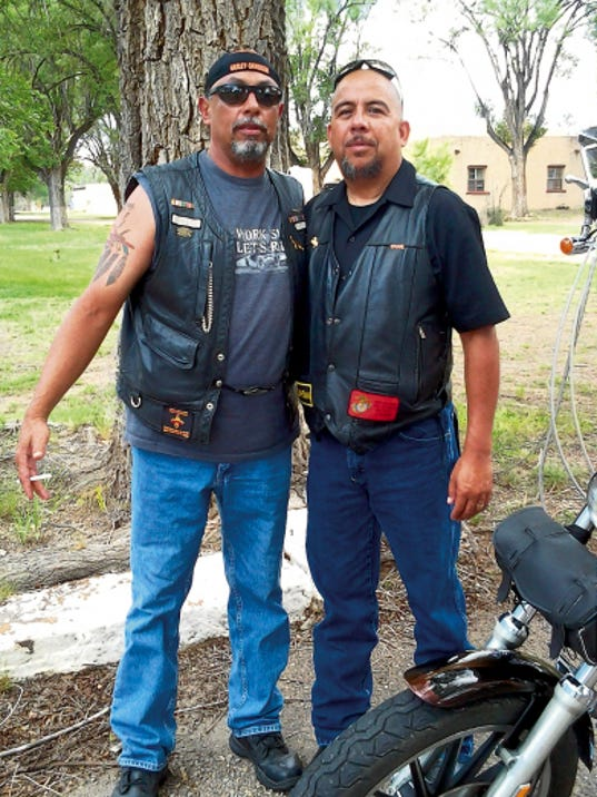 """Organizers """"Cheech"""" and Victor Montes of the Survivor Clean and Sober Motorcycle Rally."""