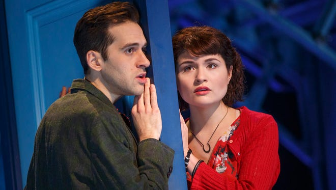 """New City native and Clarkstown South graduate Adam Chanler-Berat and Phillipa Soo in """"Amélie, A New Musical"""" at Broadway's Walter Kerr Theatre."""