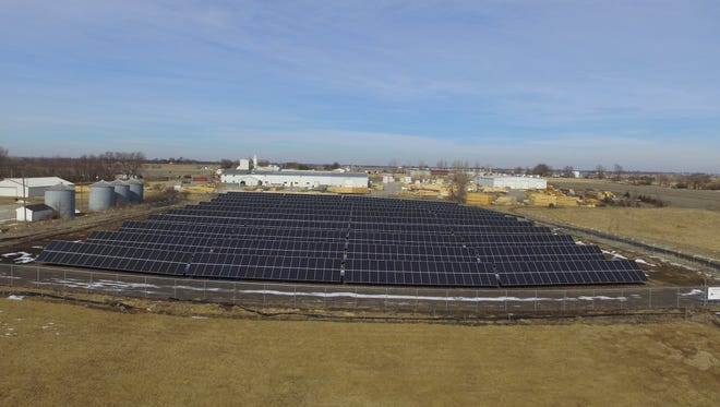 The Clarke Solar Farm in Osceola is one of five installations generating 5.5 megawatts of energy as part of a utility-scale system operated by the Central Iowa Power Cooperative.