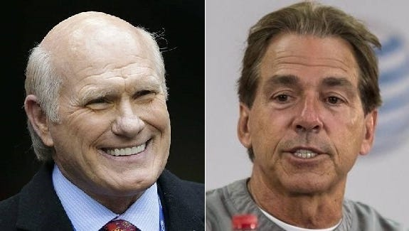 "Four-time Super Bowl champion Terry Bradshaw called Nick Saban's $11.125 million salary for the upcoming 2017 season ""shameful"" while appearing on ESPN's The Paul Finebaum Show"" as a guest."