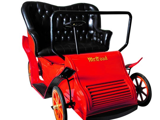 If you want to take a wild ride on the Mr. Toad buggy, know it's expected to sell for roughly $40,000-$50,000.