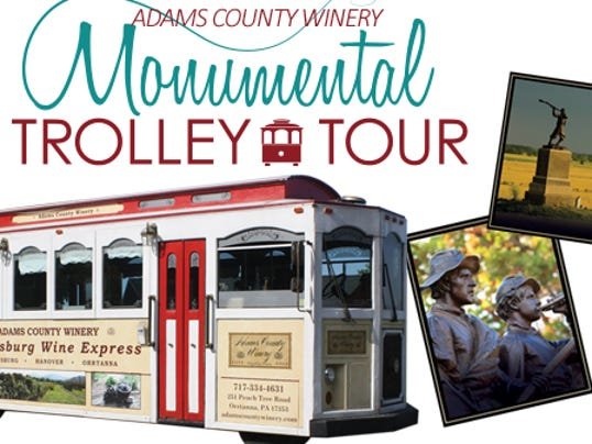 The Art and Wine Trolley Tour, set to debut June 7, will take visitors on a three-hour tour of the battlefield to explore the monuments while enjoying cheese and crackers.
