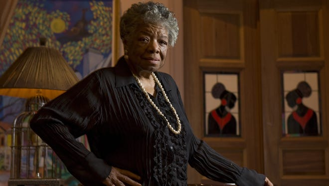 Author  and  poet Maya Angelou is photographed in her home in 2008.