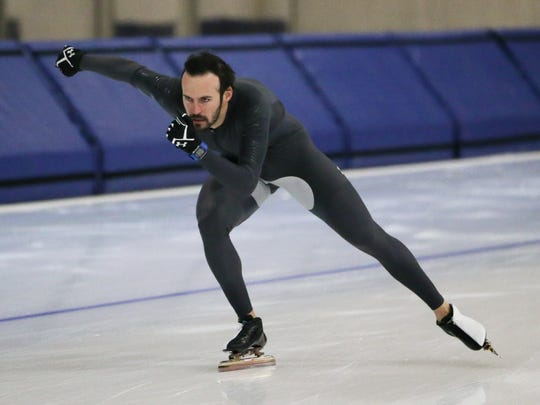 Long-track speedskater Mitch Whitmore of Waukesha is the U.S. record holder in the 500.