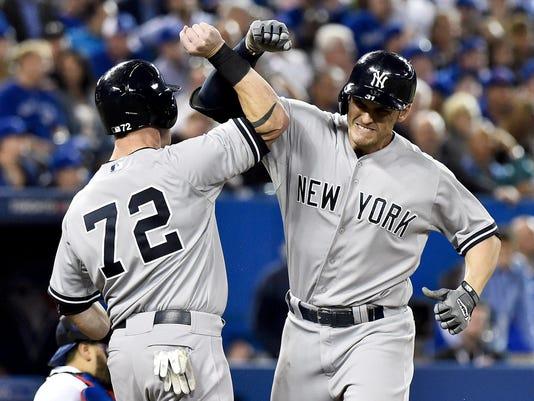APTOPIX Yankees Blue Jays Baseball