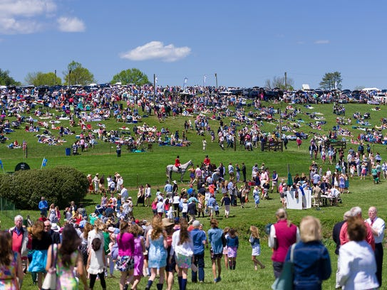 Crowds gather at the 38th annual Point-to-Point at