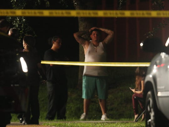 Scenes from a shooting that left two people dead in