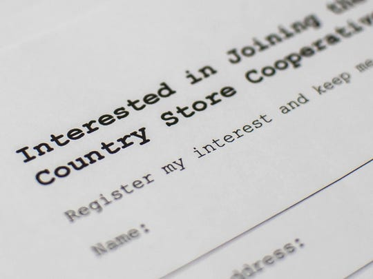 A sign-up sheet is available at the front counter of the Underhill Country Store for people interested in being a part of the co-op.