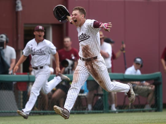 Mississippi State senior right fielder Elijah MacNamee didn't always dream of being an MSU Bulldog. For much of his life, he wanted to be a Texas A&M Aggie.