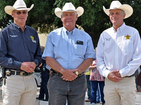 Capt. Tommy Matthews, in the dark blue shirt, helped get a Homeland Security grant to train law enforcement in Tom Green County and the Concho Valley.