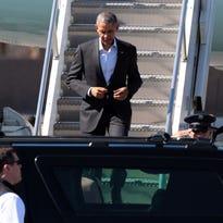 Obama's motorcade arrives in Palm Springs