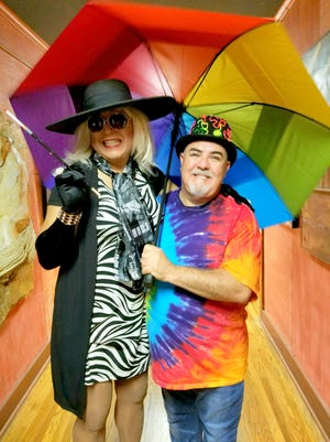 Michael Taisei and performer Vera DelMar at the Prelude to Pride fundraising dance held on August 27 in Silver City.